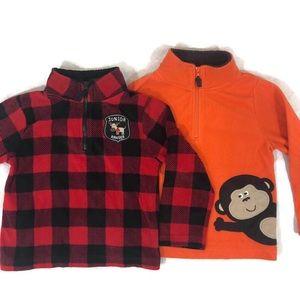 2 Boys Carter Quarter Zip Fleece Size 4T